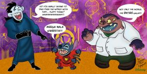 Mad Scientist Face Off by Dinogaby