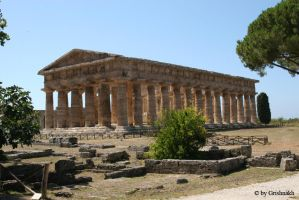 Paestum - Temple of Hera by Grishnakh666