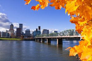 Portland in the fall by thefearlesshyena