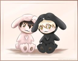 Bunny miscotts for yukusue by kawaii-explosion