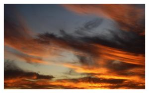 Sky on Fire by Scaphe