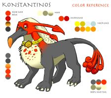 Konstantinos color reference by whitegryphon