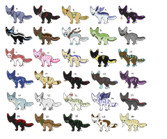 30 Adopts .:Open-2 left:. by ShinuAdopts