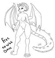 Free to use base -DRAGON by Popcorn-Panic