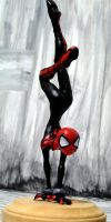 Spider-girl full view by Hasaniwalker