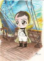 Chibi Napoleon on a ship:Stael by HistoryFashionLovers