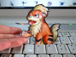 Paperchild 124. Pokemon#58 - Growlithe by FuriarossaAndMimma