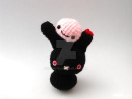 Zombie Moon Bun with Brain Pet by MoonYen