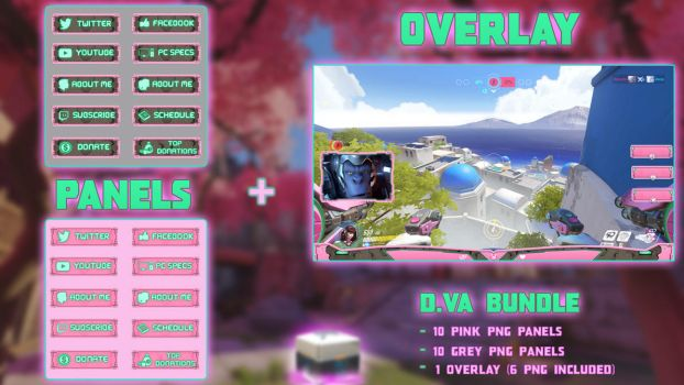 D.VA Bundle - Panels + Overlay (26 PNG) by lol0verlay