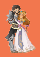 ::Commission Hawke and Zelda:: by VioletKy