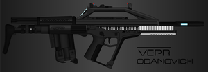 Vepr Industries - Bullpup Railgun Rifle Odanovich by prokhorvlg