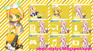 Pack Icons Kagamine Rin by AnneChan34