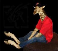 RyanR Giraffe Anthro Manip - Commission by Toledo-the-Horse
