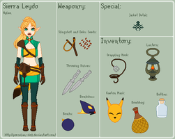 LoZ - Sierra Reference Sheet by theRainbowOverlord