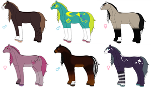 .+Horse Adoptables: Fantasy and Natural! OPEN+. by KesiLegend