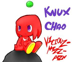 :oC practice: Knuckles chao by V1ciouzMizzAzn