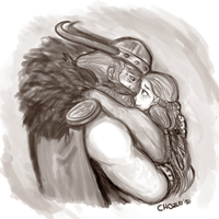 Stoick and Valka by chorchori