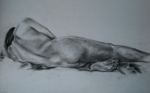 nude sketch by skullll