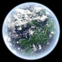 Stock: Earth-like planet by InvaderXan