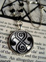 Doctor Who Rassilon necklace by Furious-Dee