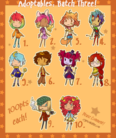 Adoptables . Batch Three { CLOSED } by CrypticInk