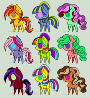 Chibi Pony Adopts - OPEN by Storm-The-Bird