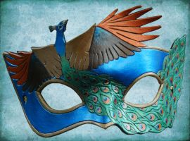Leather Peacock Mask by ContessaEsselia