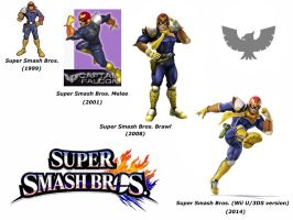 Captain Falcon (Super Smash Bros. Evolution) by delvallejoel
