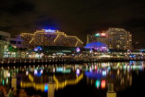 Darling Harbour at night by Kounelli1