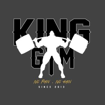 King Gym logo design by RAYN3R-4rt