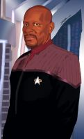 Star Trek's Captain Sisko by Micetich