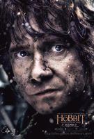 Colorful Bilbo - The Hobbit 3 Poster by Elisa-Gallion