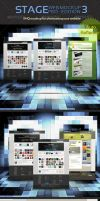 Stage Web Mockup 3 by MockupMania