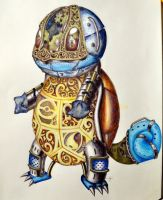 Mechanical Squirtle by ninjagirl4evs