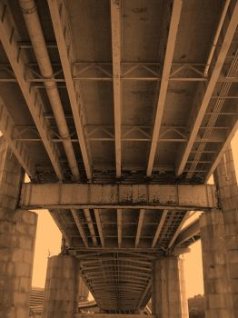 Fort Duquesne Bridge by friedzombiebrain