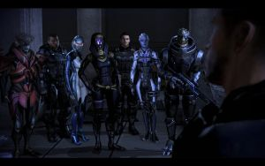 We face our enemy together /w Kaidan by donabruja