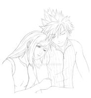 Cloud and Tifa by Nashiil