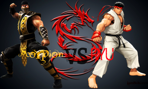 Scorpion VS Ryu by IamSubZero