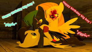 Evilshy and Painty gift to Boby by XtremeTerminator4
