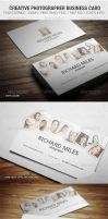 Creative Photographer Business Card by vitalyvelygo