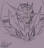 Prime Soundwave Sketch by DeviantDolphinART
