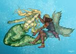 The Pirate and the Merman by rosemask22