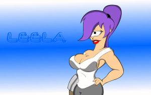 Leela wallpaper2 by dinohunterx