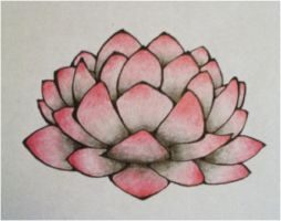 lotus tattoo- unfinished by fire-demon