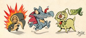 Pokemon Starter 2nd Gen by Themrock