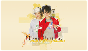 + Happy birthday twins kaulitz by Rockthebeat