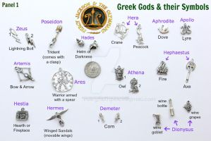 Percy Jackson Demigod Greek Mythology Theme CHARMS by maryfaithpeace