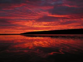 Sunrise over Torch Lake by ElfenLied333