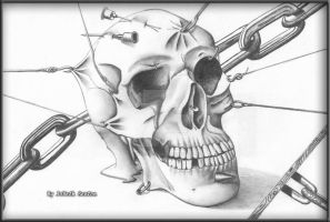 Pierced Skull by Ravens-Eye-Studio