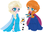Frozen Commission - Anna and Else by YamPuff